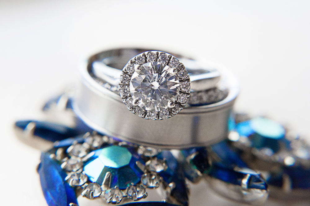 Navy Engagement Ring