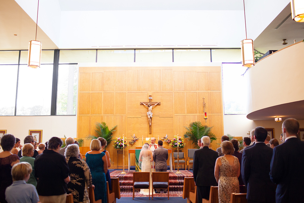 Our Lady of Lourdes Wedding Raleigh NC