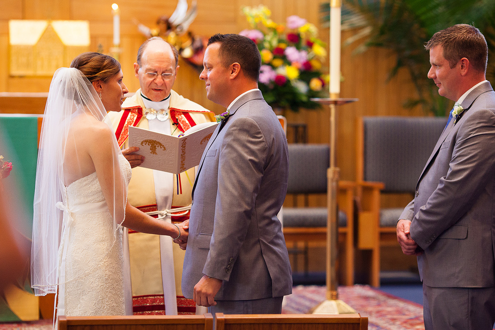 Ring Exchange at Catholic Wedding