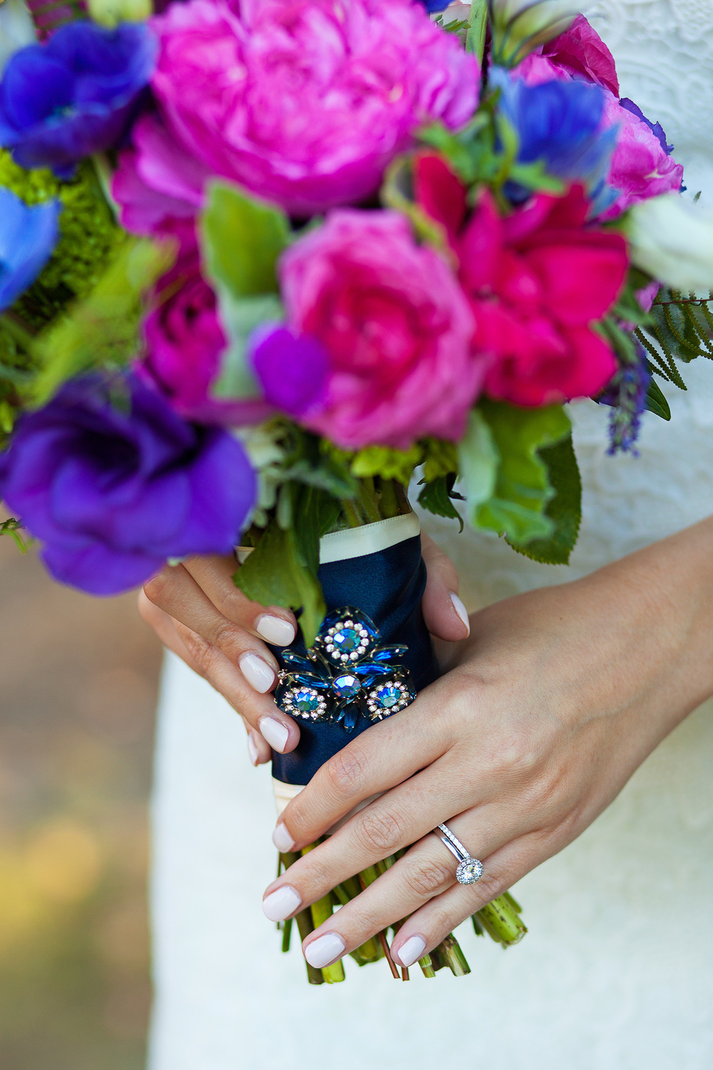Colorful Broach Bouquet