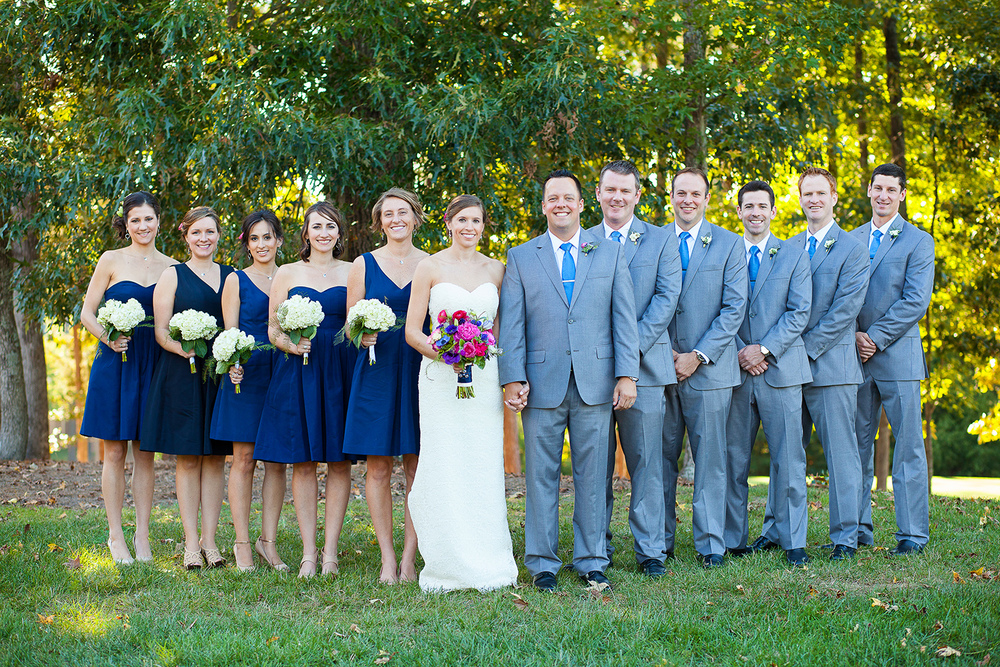 Bridal Party at Brier Creek Country Club Wedding