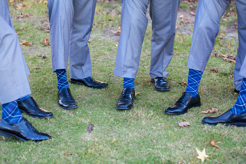 Blue Groomsmen Socks