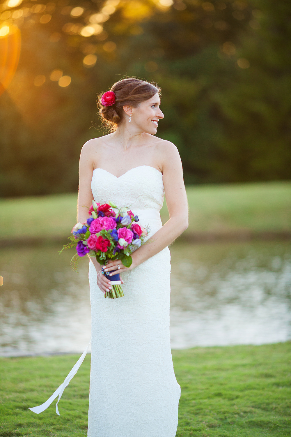 Bridal Portraits at Brier Creek Country Club
