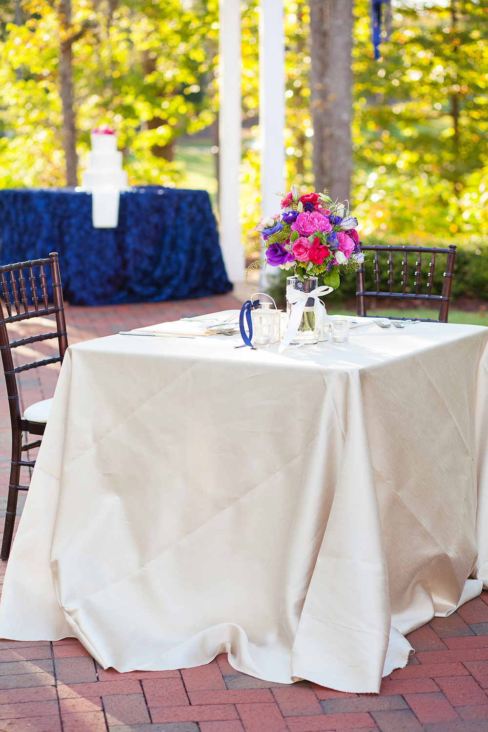 Sweetheart Table at Raleigh Wedding