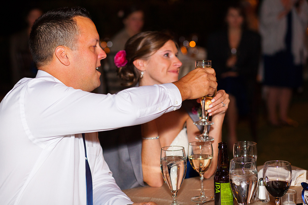 Bride & Groom Toasting
