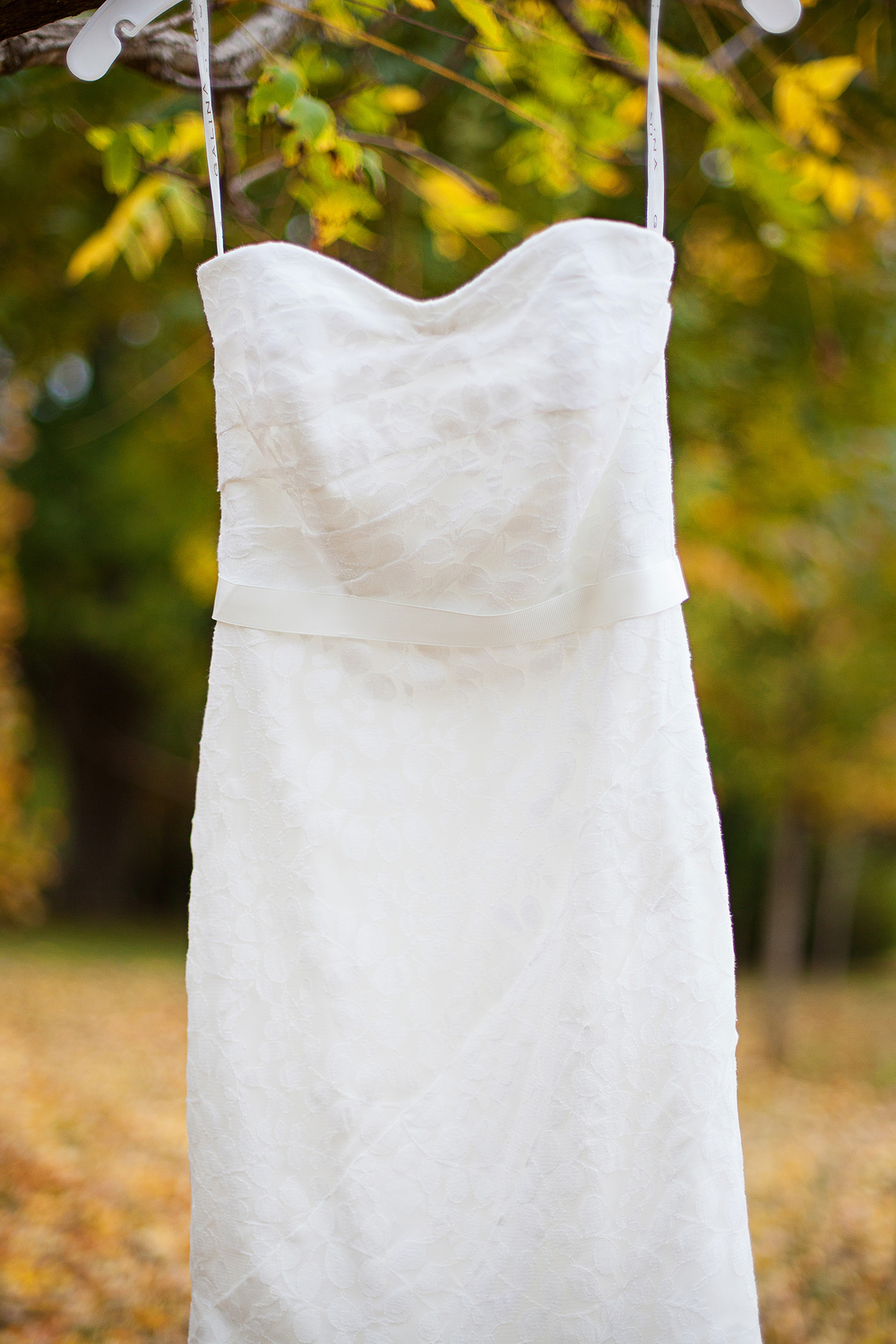 Fall Wedding Gown Details