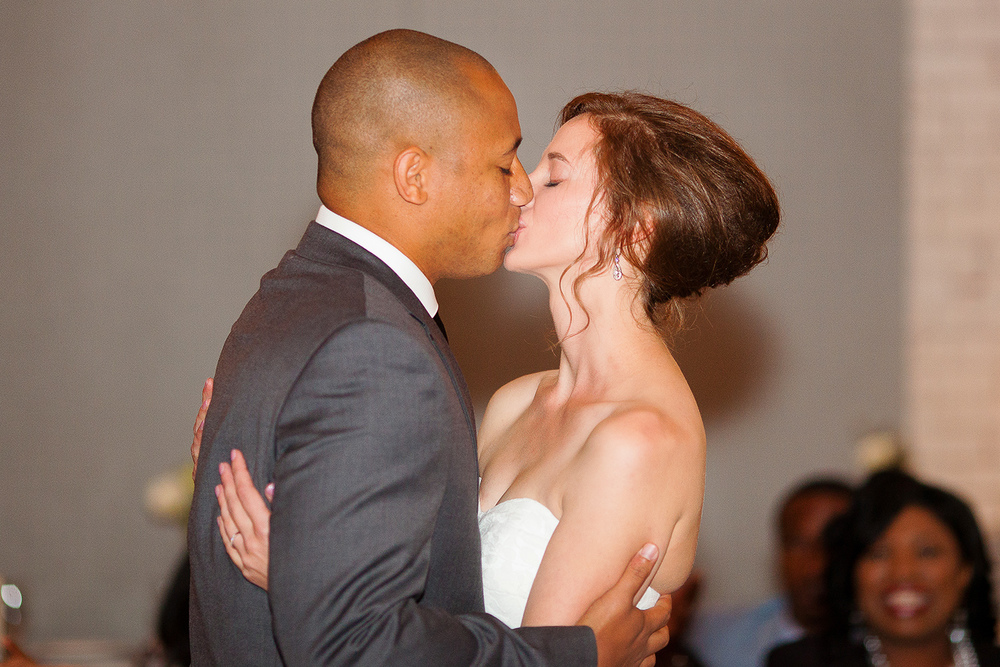 The First Kiss as Husband & Wife