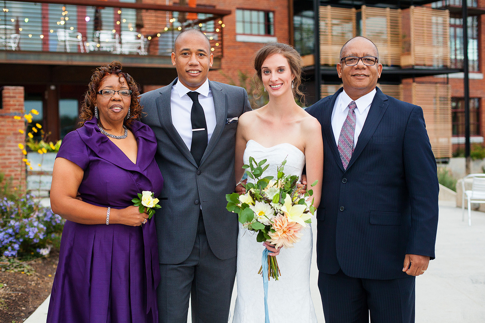 Couple with Groom's Parents