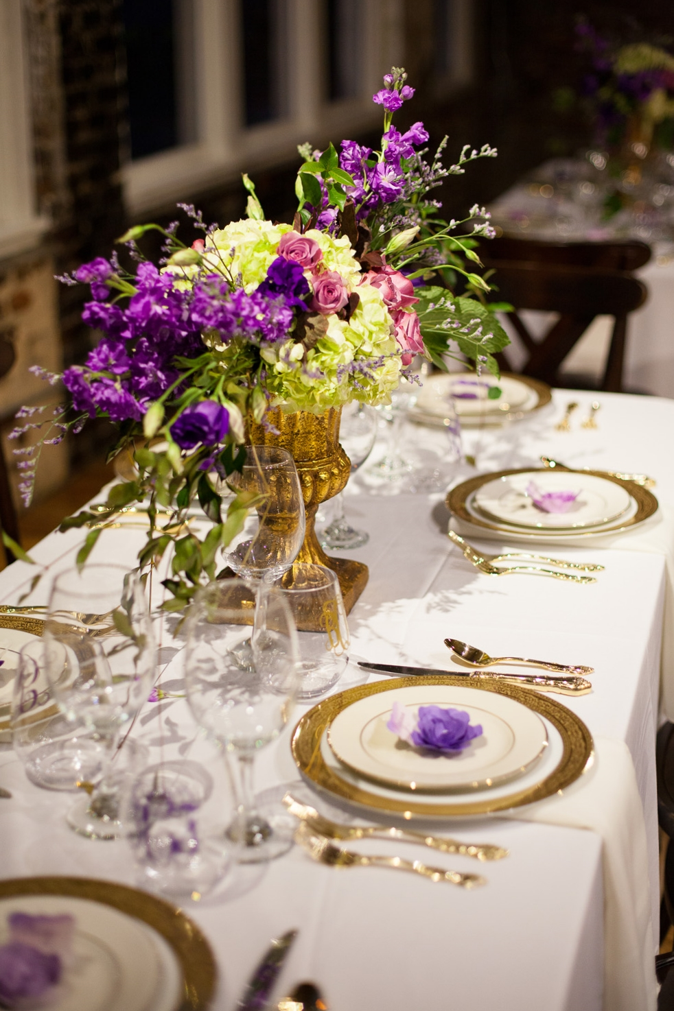 Purple & Gold Wedding Ideas