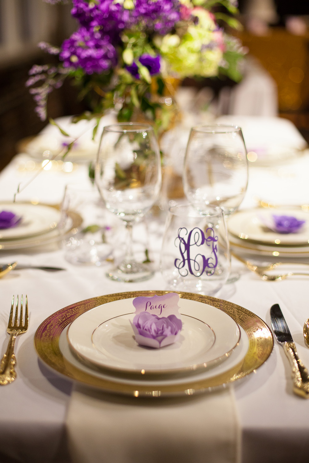 Purple & Gold Dinner Party