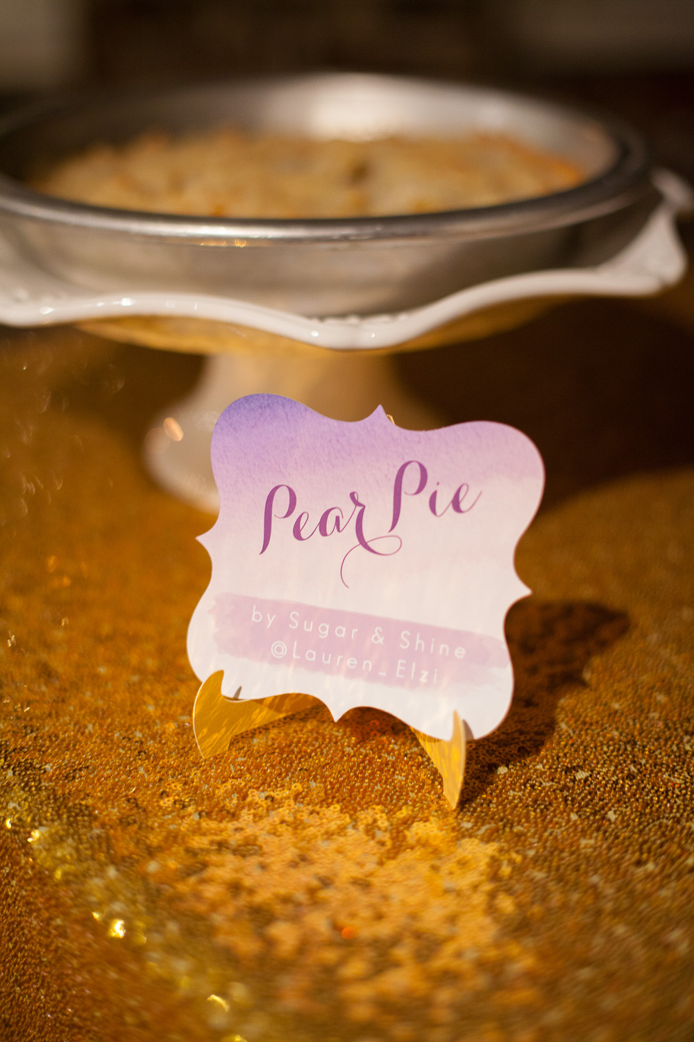 Pie Name Cards for Wedding Dessert Table