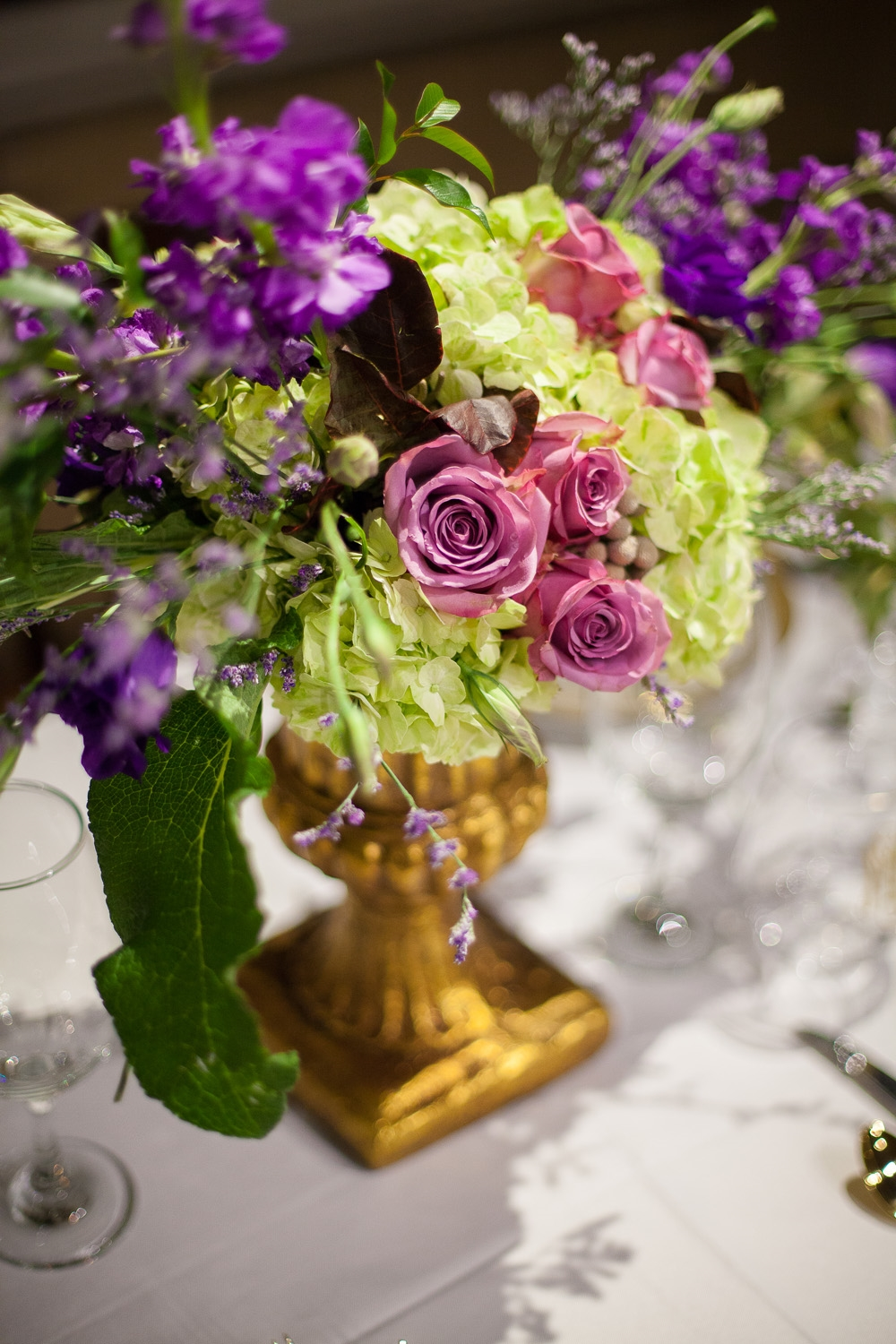 Purple Centerpiece by Eclectic Sage