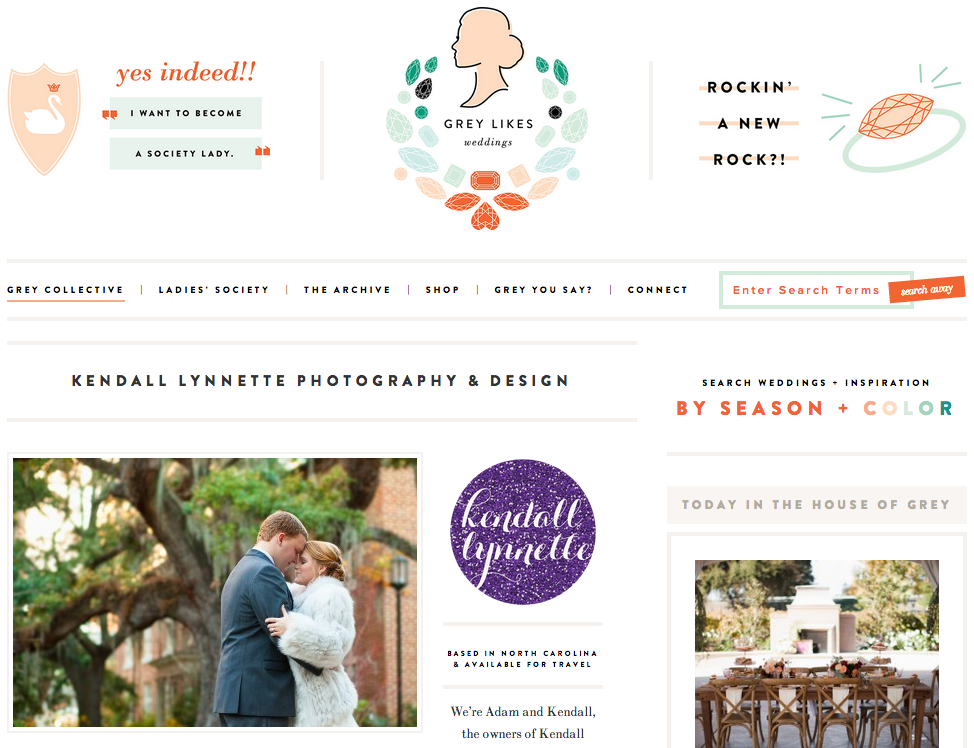 Featured on Grey Likes Weddings Collective
