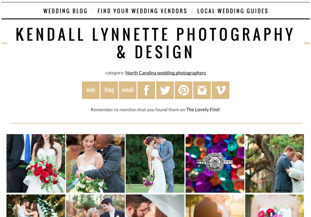 Featured in The Lovely Find Vendor Guide