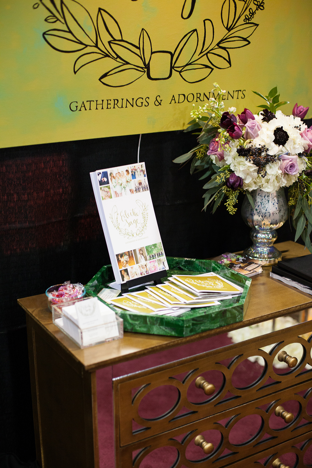 Eclectic Sage Bridal Show Booth