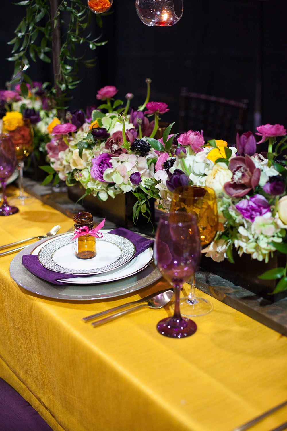 Colorful Fall Wedding Tabletop Design