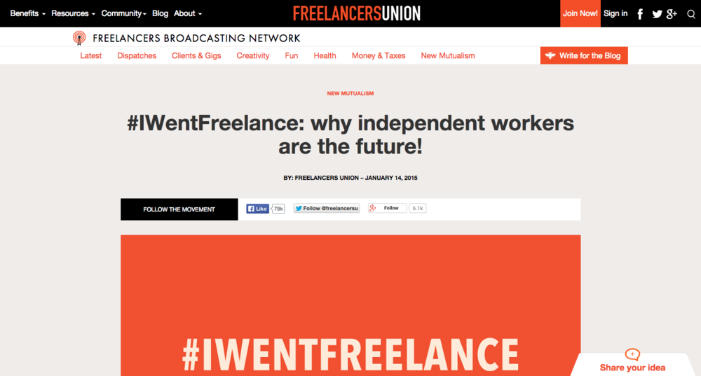 Featured on Freelancers Union