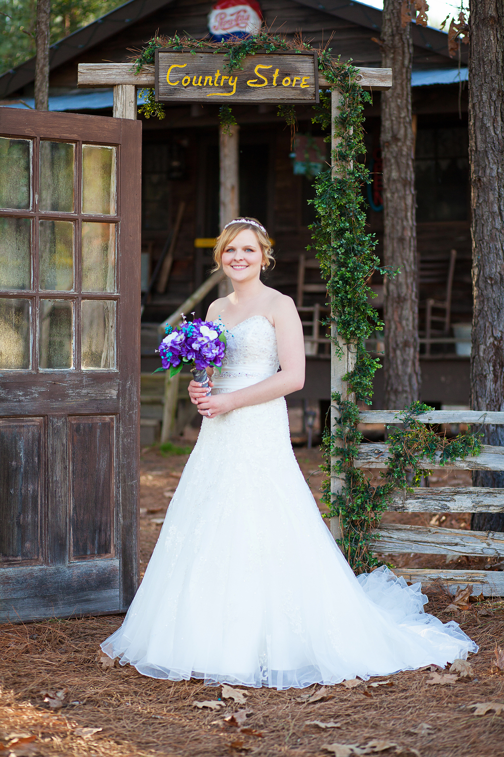 Bridal Portraits at Shady Wagon Farm