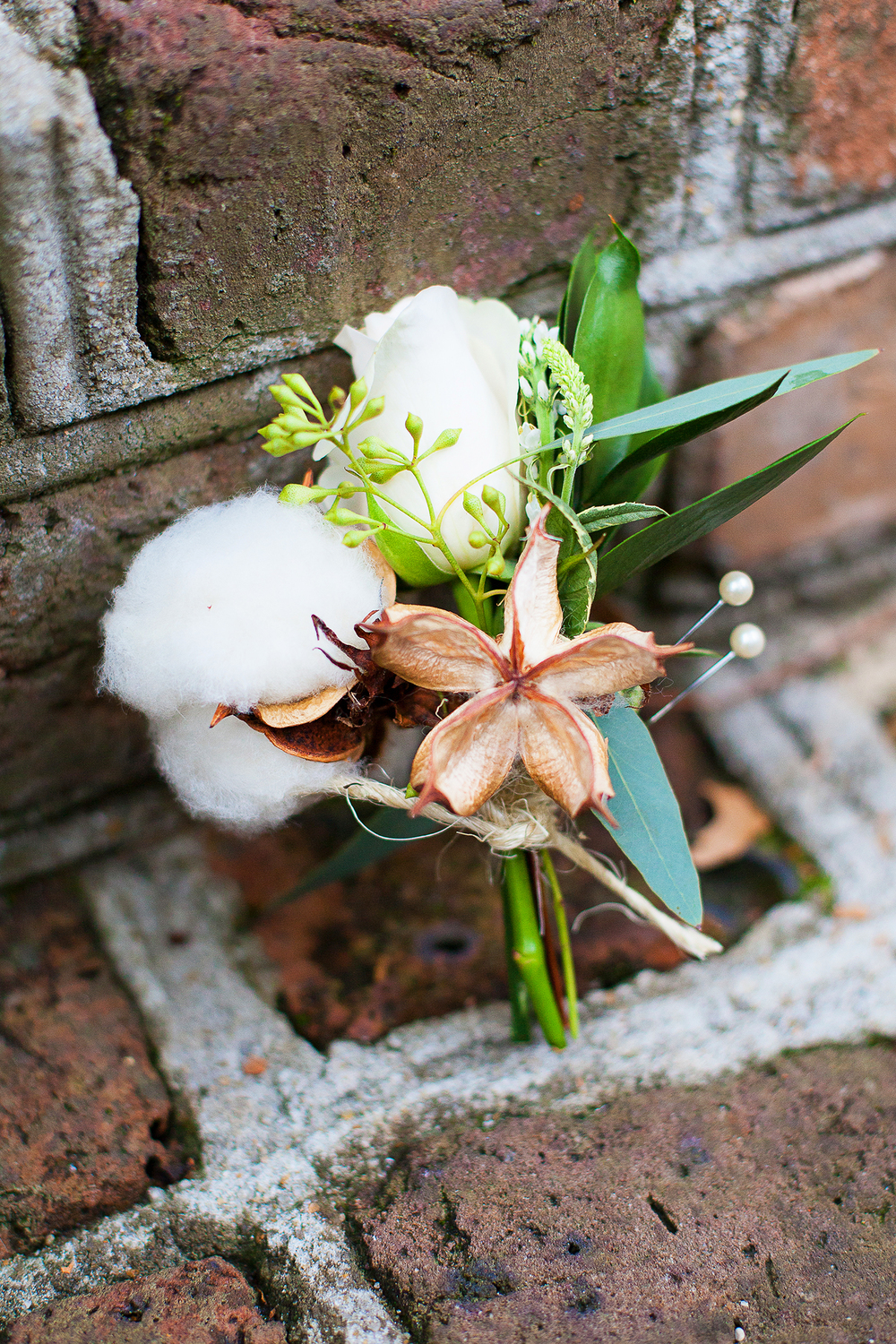 Cotton Boutonniére