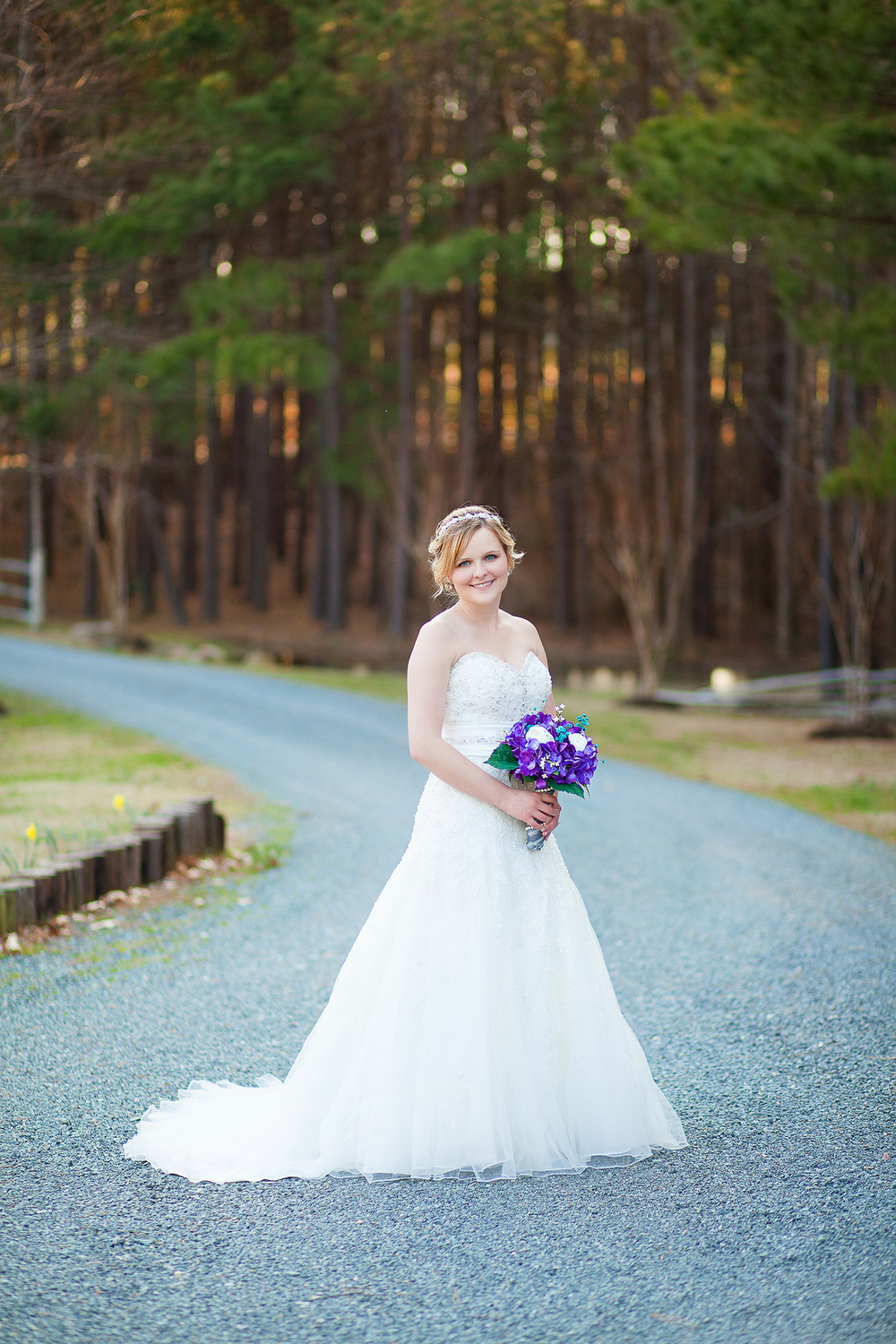 Gravel Road Bridal Portraits