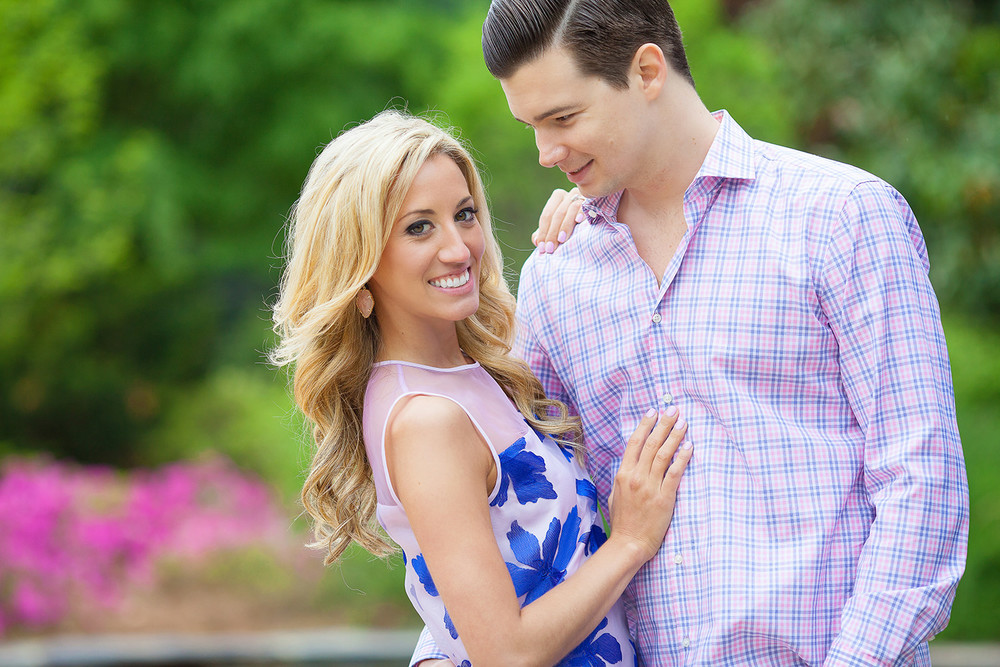 Pink & Blue Outfits for Engagement Pictures