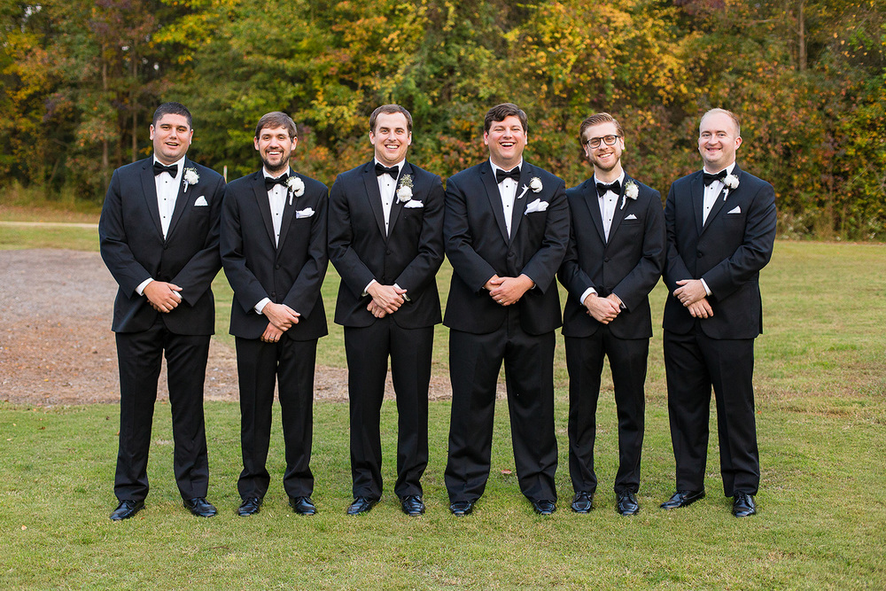 Groomsmen at Oaks at Salem