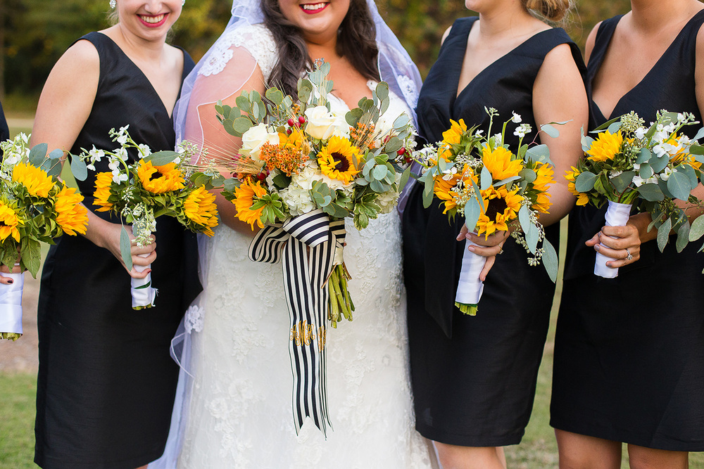 Sunflower Bridesmaid Bouquets
