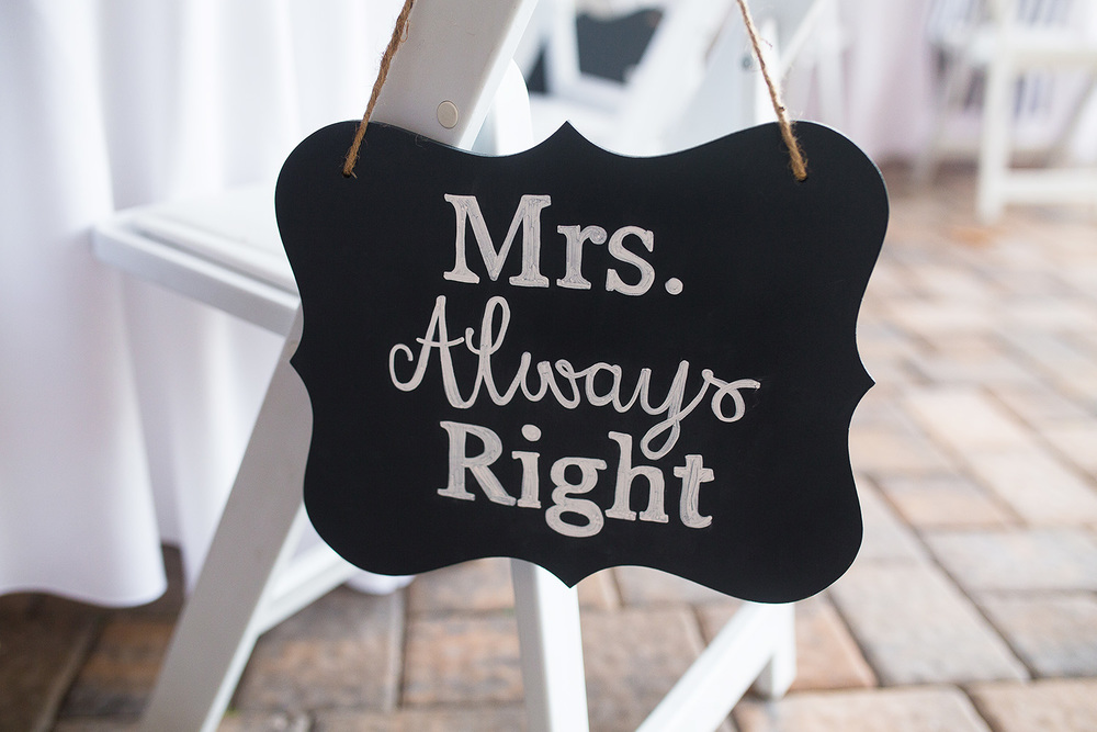 Mrs. Always Right Sign