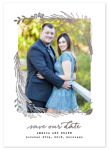 Silver Foil Save The Dates
