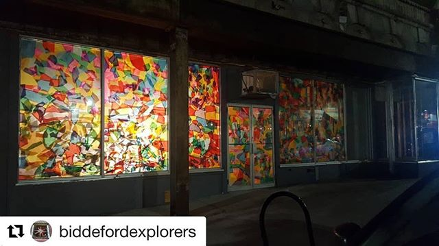 Thanks for the great nighttime shot @biddefordexplorers !!! #Repost @biddefordexplorers with @get_repost ・・・ The Bloom Exhibit at @enginebiddeford. What a gorgeous sight on Main St.  #biddofordmaine #biddeford #biddo #biddefordsaco #enginebiddeford #summer2018 #prettylights #biddefordme #biddefordmainstreet #biddefordartists