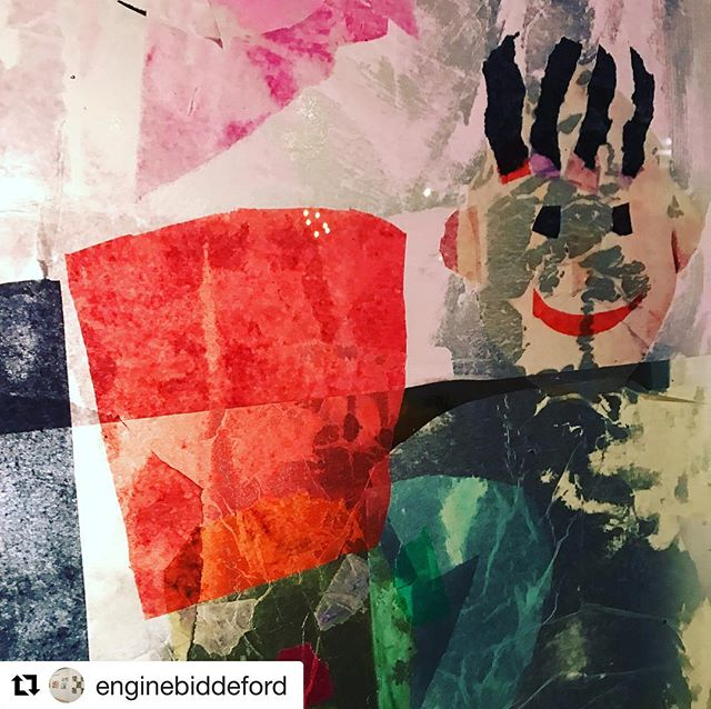 #Repost @enginebiddeford with @get_repost ・・・ We had a visit by the Biddeford Schools summer program students this week and they created tissue paper stained glass self portraits. Such a lovely group of students. Thanks @leeannamorris for leading and @patsygendron for bringing them over. #biddeford #feedtheengine #biddefordmaine #newmainers