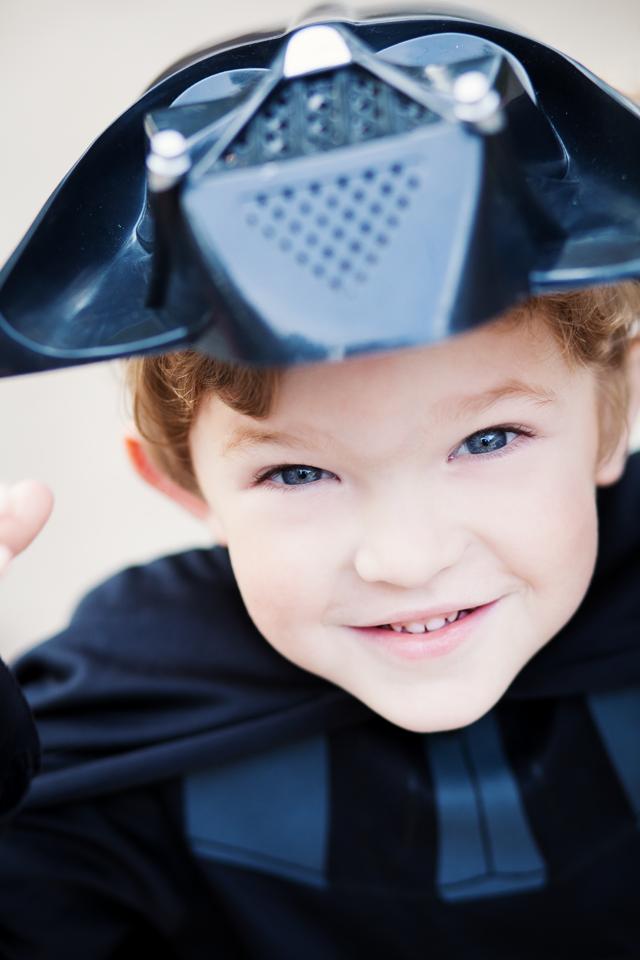 Darth Vader unmasked kids portrait