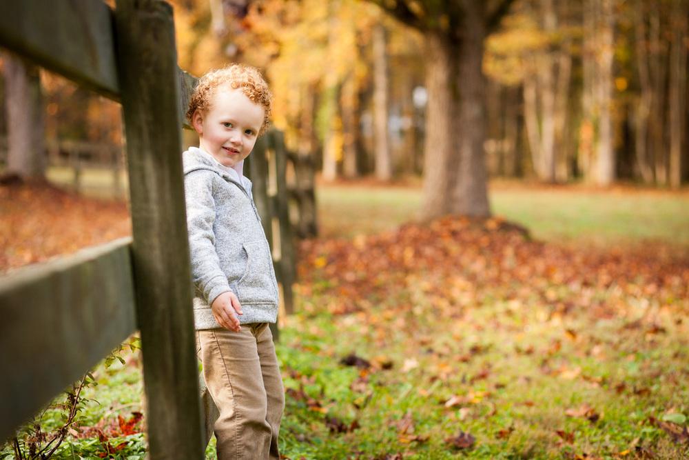 fall portrait of boy in oxford georgia
