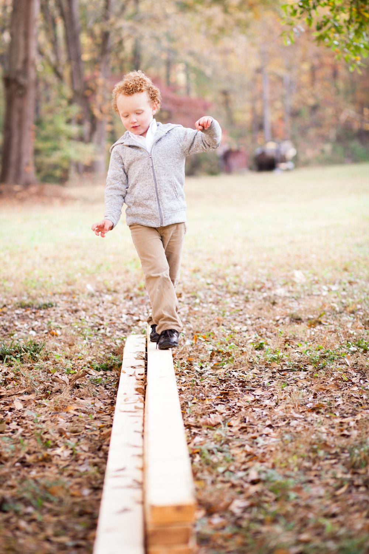 boy tight rope walk on oxford farm