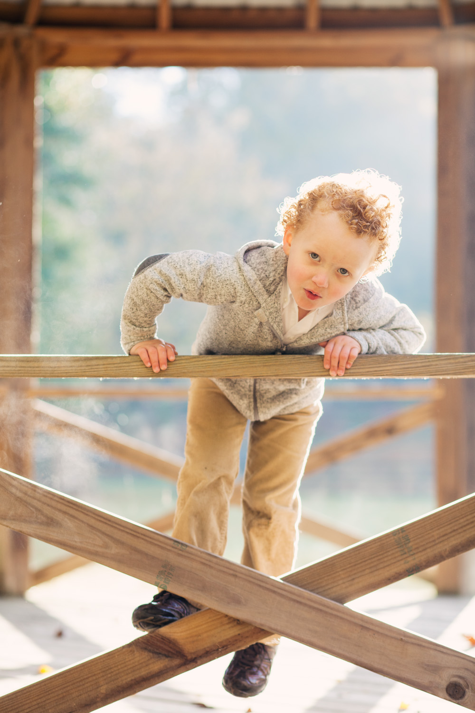 boy scaling gazebo in oxford georgia