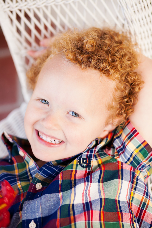 portrait of smiling pre-schooler in oxford