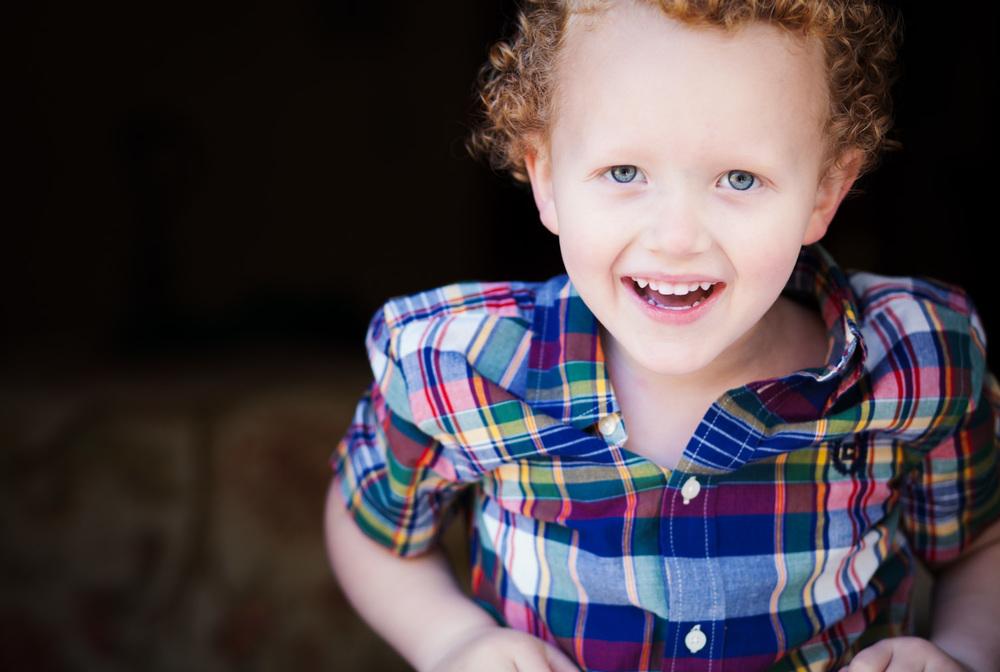 portrait laughing boy in covington ga