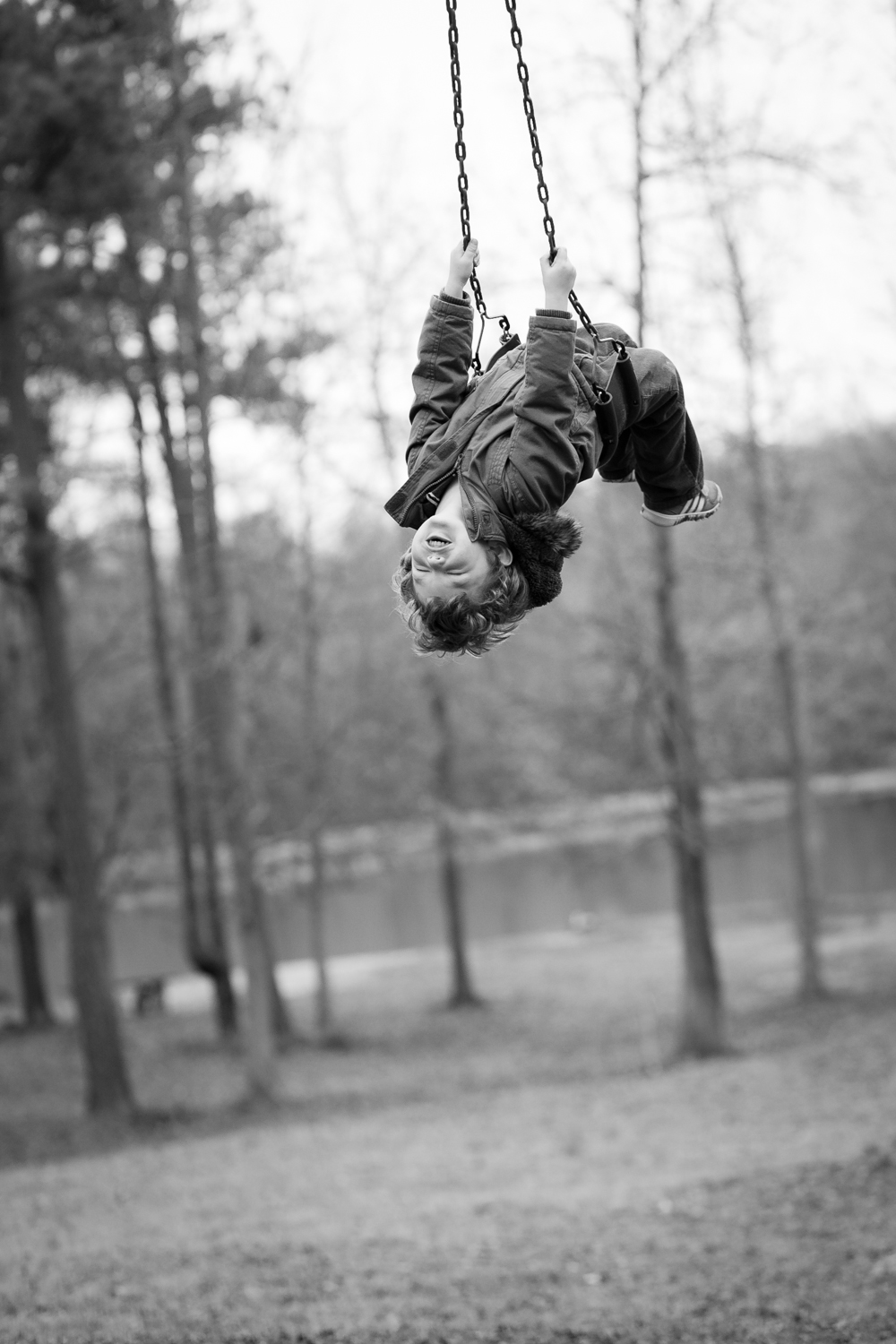 covington georgia photographer kids action shot swinging