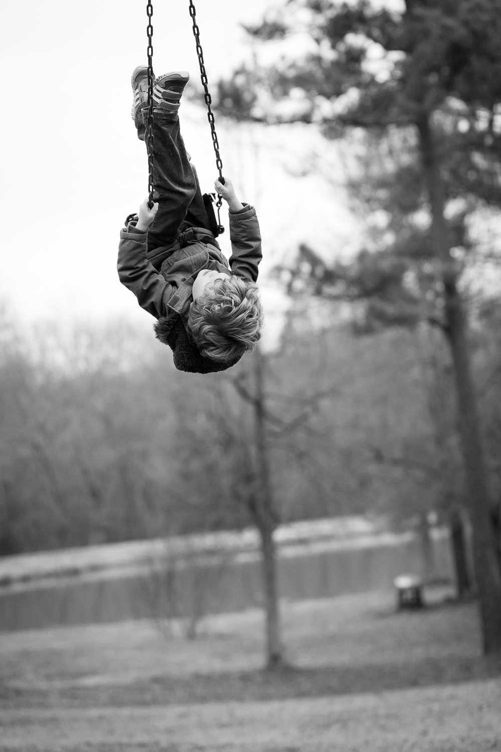covington ga kids photographer swing action shot in oxford ga