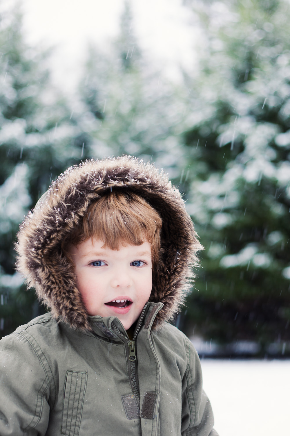 Atlanta kids photographer snow portrait