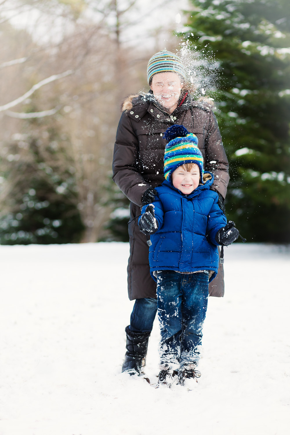 atlanta family photographer fun family shot in snow