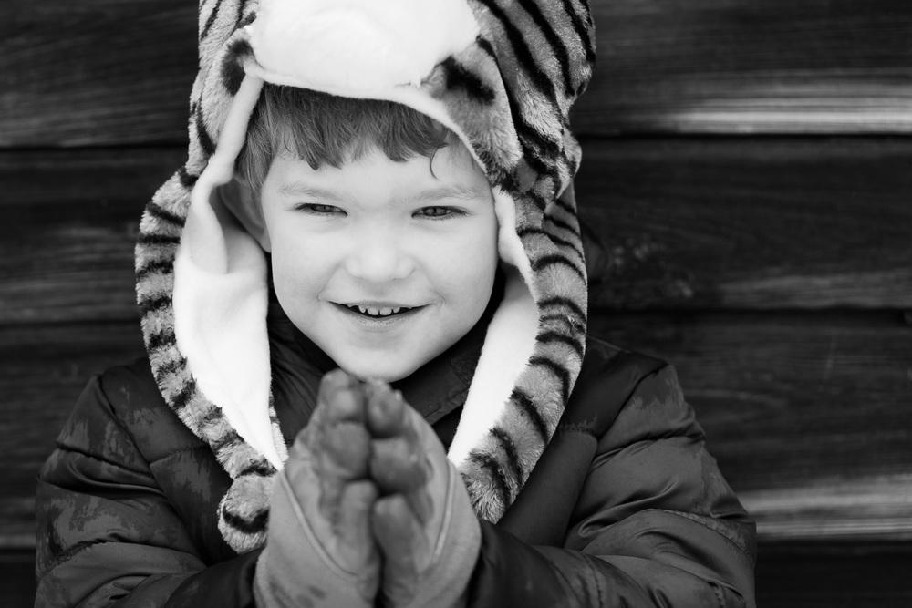 kids photographer atlanta winter portrait
