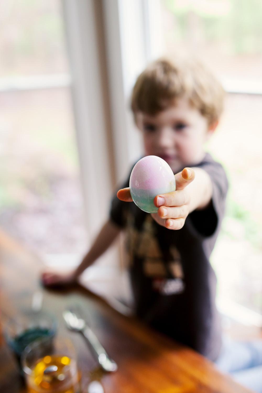 Boy and easter egg atlanta ga photograph