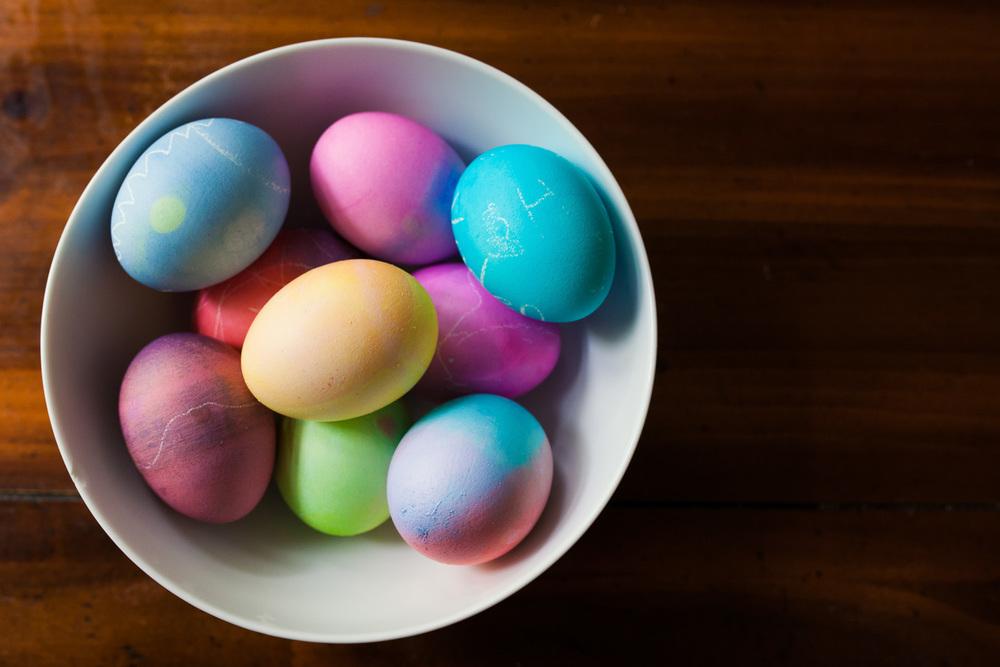 colorful bowl of easter eggs atlanta ga