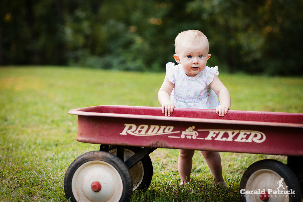 Atlanta kids photography red wagon