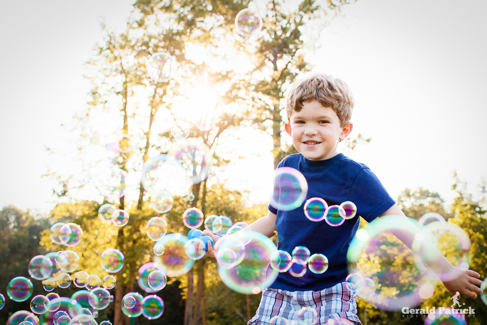 decatur kids photographer bubble session