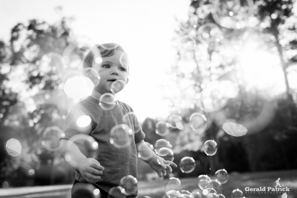 covington family photographer bubble session