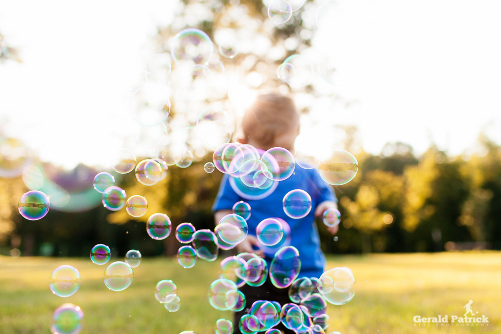 covington kids photographer bubble session