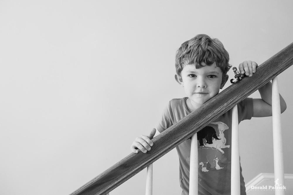 covington photographer child black and white portrait