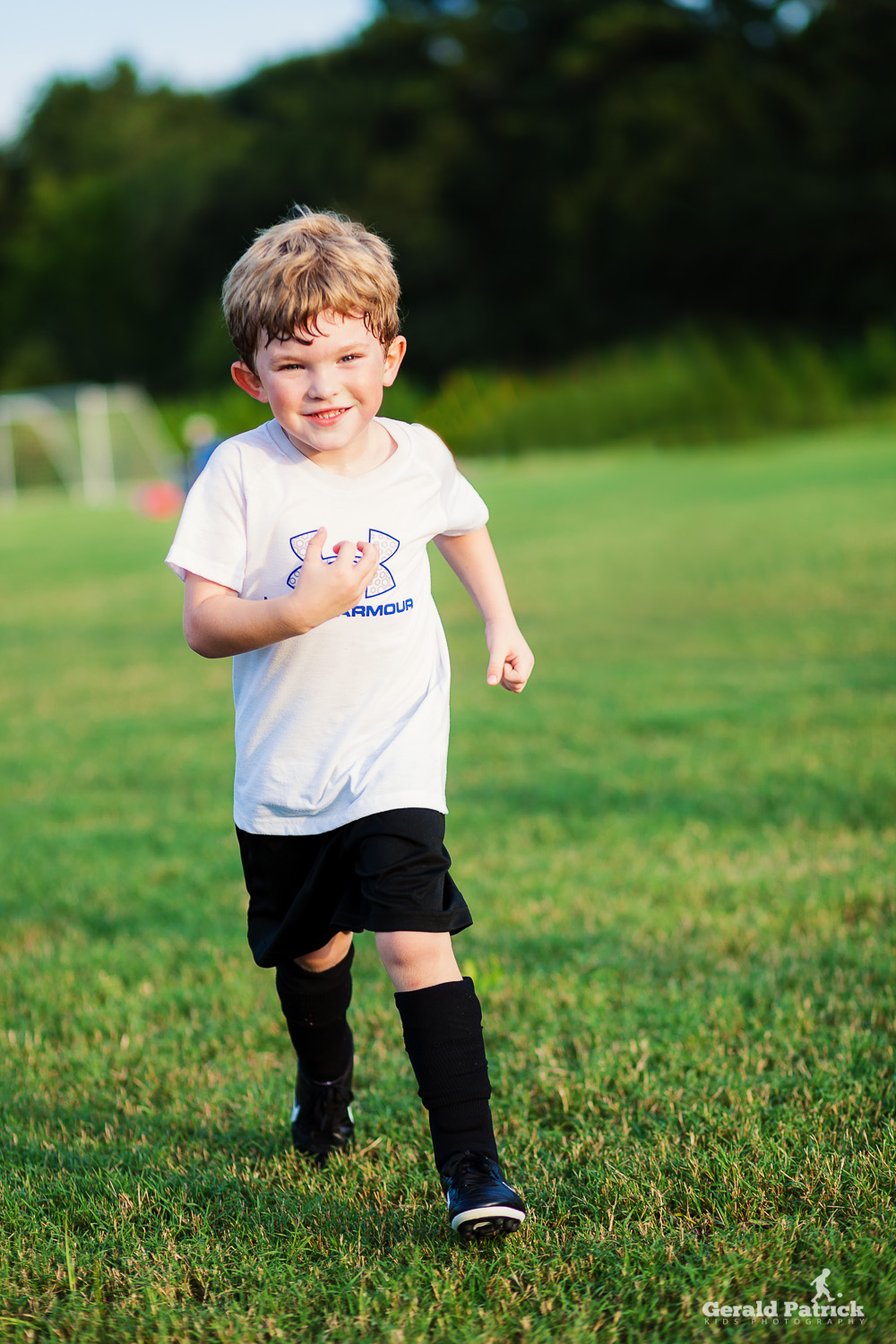 running at covington ymca soccer practice